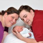 Krystina mit Mann und Baby